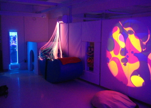 Padded Sensory room illuminated
