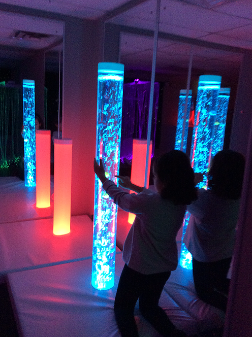 Bubble Tubes in a TFH sensory room